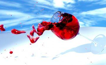 Rotwein-Flecken