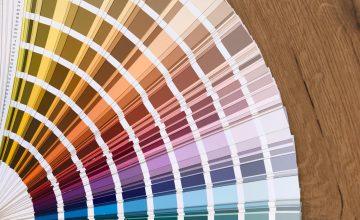 Farbfächer für mögliche Farbmischungen